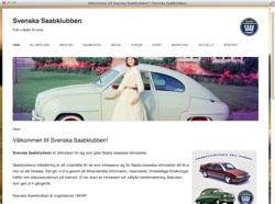 Saabklubbens nya hemsida
