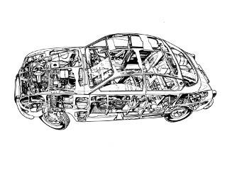 Saab 96 i genomskäring