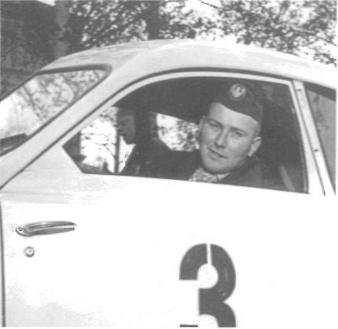 I Midnattssolsrallyt 1956 kom Erik på fjärde plats.